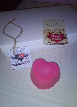 Мило ручной работы сердце подарочный набор ко Дню Св. Валентина