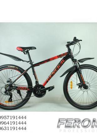 Велосипед 26 GENERAL 9,0 ALLOY красно-черный. Ferom+