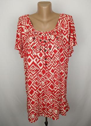 Блуза новая стильная плотная в орнамент большой размер marks&s...