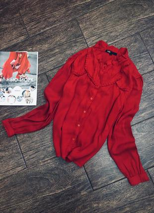 Потрясающе красивая красная рубашка блуза отmaje оригинал(цена...