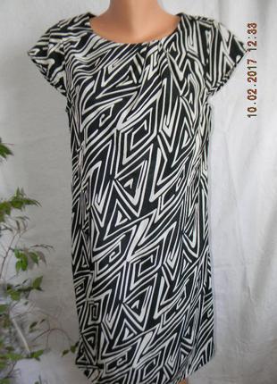 Платье новое прямого кроя с принтом klass