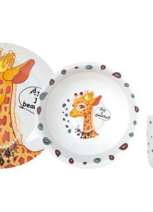 Набор детской посуды подарочный