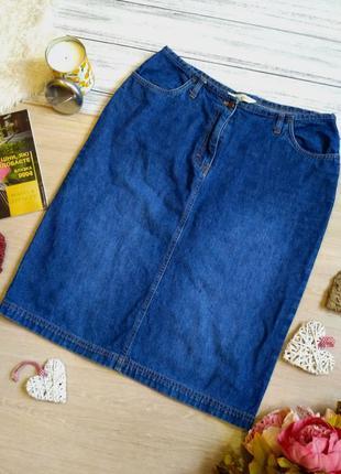 Стильная джинсовая юбка размер 14 (44-46)