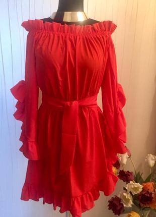 Платье коктейльное с поясом
