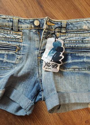 Короткие джинсовые шорты yota (италия)