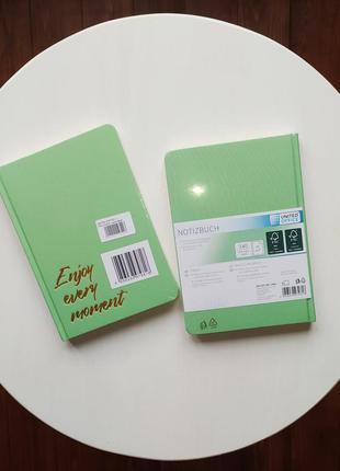 Блокнот ежедневник записник зеленый united office