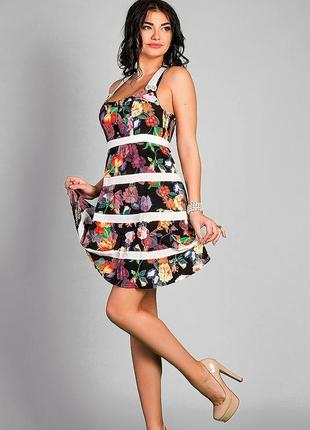 Платья-бюстье сарафан яркий
