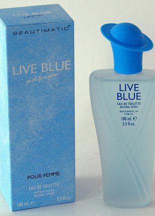 Live blue beautimatic женская туалетная вода 100ml
