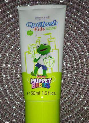 "Детская зубная паста optifresh kids ""muppet babies""."