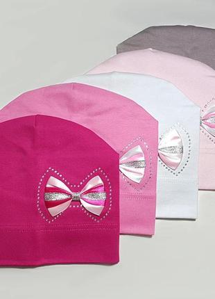 """Модная шапка для девочек """"бантик"""""""