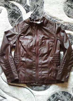 Куртка толстовка blivener 2 в 1, кожанка, косуха, кожзам