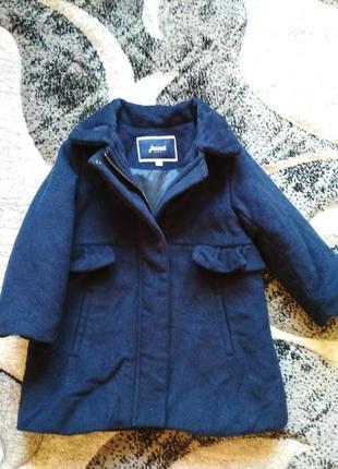 Пальто шерстяное jacadi,пальтишко,плащик,пальтішко
