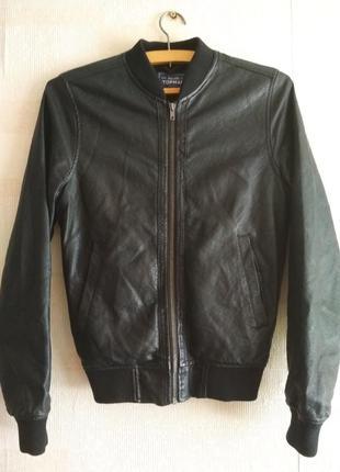 Куртка бомбер topman,кожанка,курточка,бомпер,американка, косуха