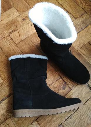 Сапоги замшевые зимние invito,чоботи зимові,ботинки