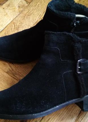 Демисезонные замшевые сапоги debenhams, ботинки,челси,чоботи