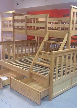 Кровать двухъярусная трёхместная Олигарх Бук