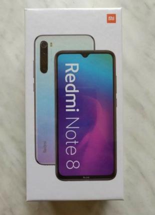 Новый, запечатаный Xiaomi RedMi Note 8 4/64 БЕЛЫЙ