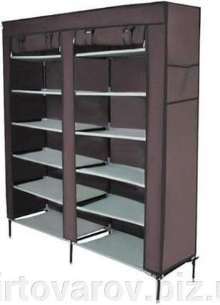 Тканевый шкаф складной шкаф на 2 секции шкаф для обуви. Польша.