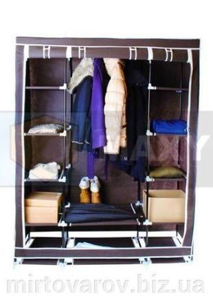 Тканевый двойной шкаф для одежды, шкаф-органайзер. Польша.