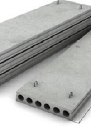 Плиты перекрытия бетонные пустотелые ПБ