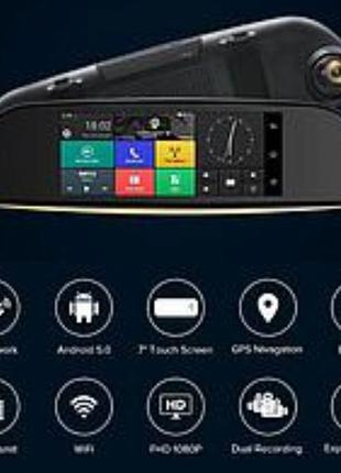 Зеркало регистратор Android 570 7 дюймов