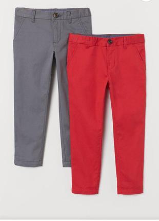 Легкие хлопковые брюки  чинос h&m