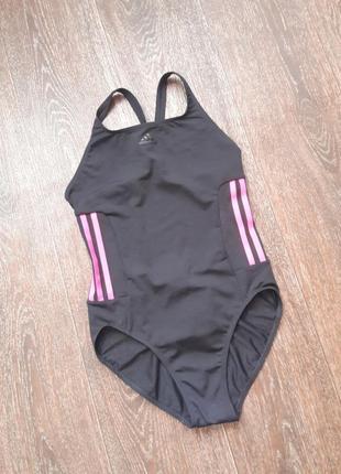 Сплошной купальник черный adidas р.хс-с