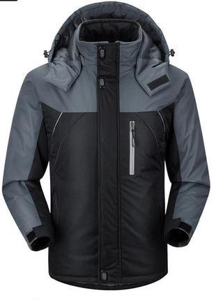 Куртка мужская steve демисезонная, зимняя, экомех серая