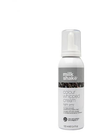 Несмываемая оттеночная крем-пенка для волос Light grey Milk Shake