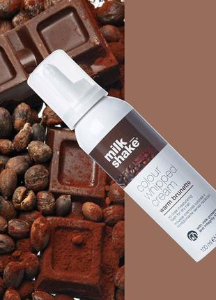 Несмываемая оттеночная пенка для волос Warm brunette Milk Shake