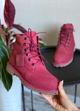 Ботинки timberland бордо