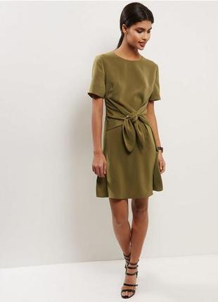 Платье поясом - бантом