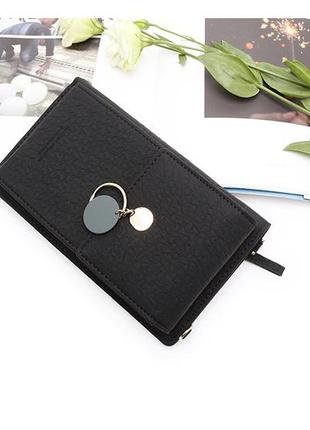 Женская сумка кошелек чехол для телефона черная