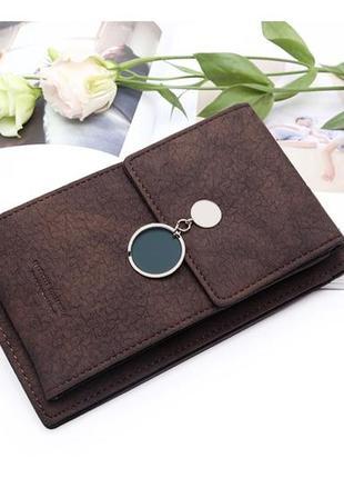 Женская сумка кошелек чехол для телефона коричневая