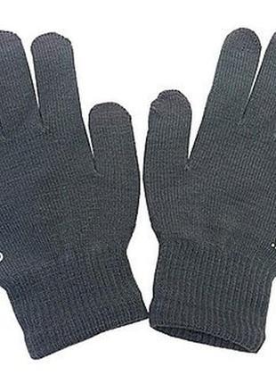 Перчатки сенсорные, для сенсорных телефонов и планшетов серые