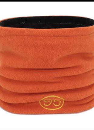 Спортивный шарф снуд хомут труба оранжевый