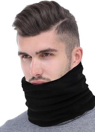 Спортивный шарф снуд хомут труба черный
