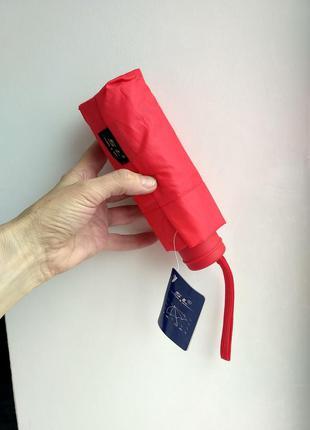 Компактный ярко-красный зонт, механика,в сумочку дежурный в 4 ...