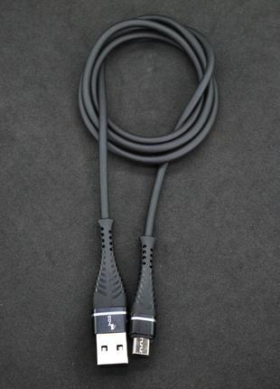 Кабель Usb Micro USB 4you Berda black (2.4A, 85 см, tpu soft t...