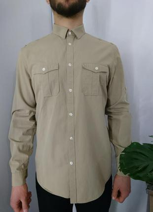 Фирменная рубашка в стиле милитари #5max