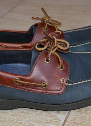 Clarks 41р  туфли мокасины кожаные.оригинал.топсайдеры.