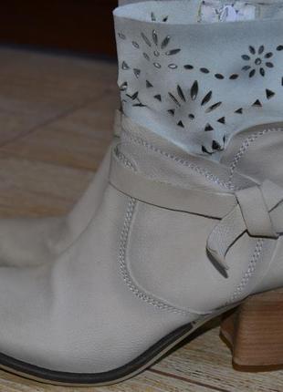 Cafenoir vera pelle кожаные, оригинал.  ботинки ботильоны