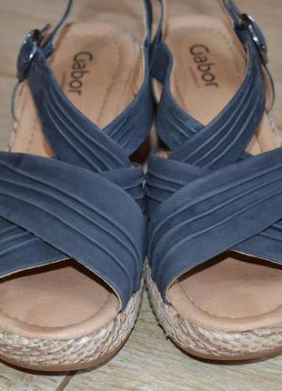 Gabor 41р. кожаные босоножки , сандалии на каблуке. туфли