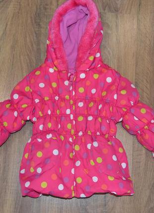 Tu 1 1/2-2года куртка на девочку демисезонная еврозима