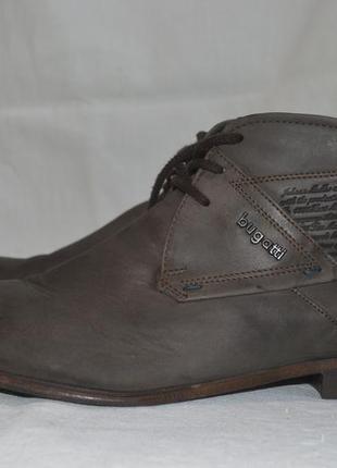Bugatti 42р ботинки кожаные. оригинал. мужские