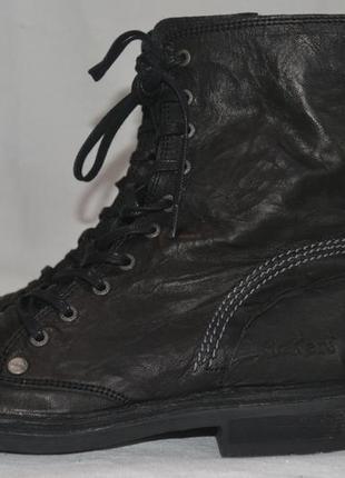Kickers 38р ботинки кожаные демисезонные. женские \ детские