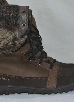 Quechua 40-41р . зимние кожаные ботинки сапоги. оригинал. novadry