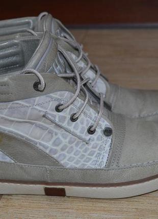 Rehab 40р ботинки сникерсы кожаные. демисезон.