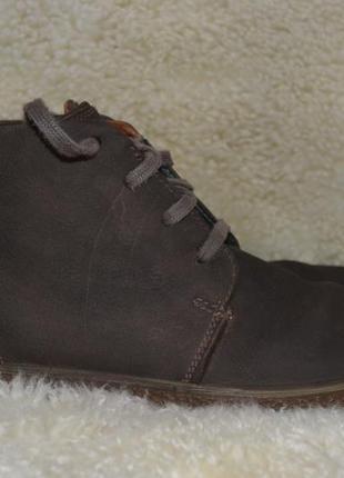 Ecco 46р ботинки кожаные демисезонные