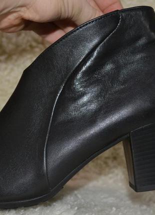 Gabor 39р ботинки кожаные, ботильоны , демисезон- еврозима